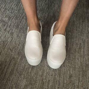 Shoes - White platform slip on sneakers